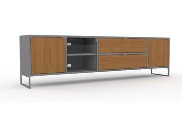 Lowboard Eiche - TV-Board: Schubladen in Eiche & Türen in Eiche - Hochwertige Materialien - 193 x 53 x 35 cm, Komplett anpassbar