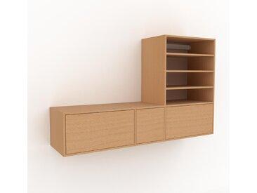 Hängeschrank Buche - Moderner Wandschrank: Schubladen in Buche - 190 x 118 x 47 cm, konfigurierbar
