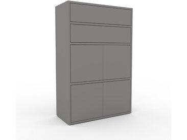 Highboard Grau - Highboard: Schubladen in Grau & Türen in Grau - Hochwertige Materialien - 77 x 118 x 35 cm, Selbst designen