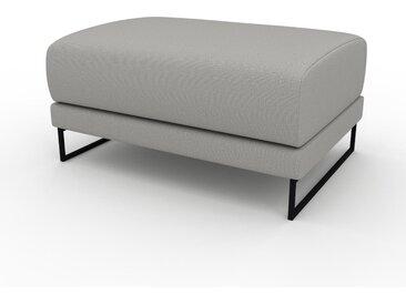 Polsterhocker Sandgrau - Eleganter Polsterhocker: Hochwertige Qualität, einzigartiges Design - 80 x 42 x 60 cm, Individuell konfigurierbar