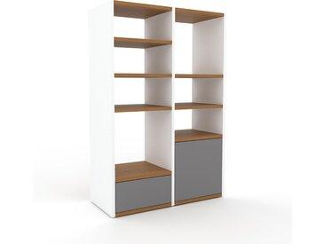 Regalsystem Grau - Regalsystem: Schubladen in Grau & Türen in Grau - Hochwertige Materialien - 79 x 118 x 35 cm, konfigurierbar