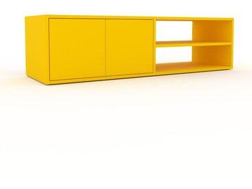 TV-Schrank Gelb - Moderner Fernsehschrank: Türen in Gelb - 152 x 41 x 47 cm, konfigurierbar