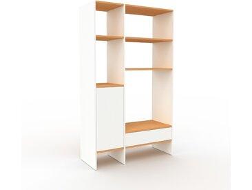 Regalsystem Weiß - Regalsystem: Schubladen in Weiß & Türen in Weiß - Hochwertige Materialien - 116 x 195 x 47 cm, konfigurierbar