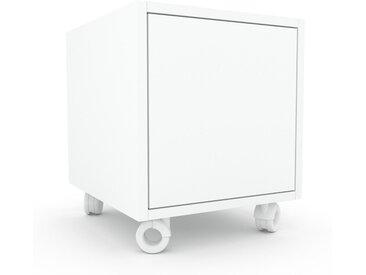 Rollcontainer Weiß - Moderner Rollcontainer: Türen in Weiß - 41 x 49 x 47 cm, konfigurierbar