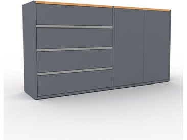 Highboard Anthrazit - Highboard: Schubladen in Anthrazit & Türen in Anthrazit - Hochwertige Materialien - 152 x 80 x 35 cm, Selbst designen