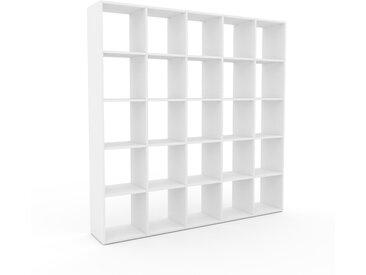 Bibliotheksregal Weiß - Individuelles Regal für Bibliothek: Einzigartiges Design - 195 x 195 x 35 cm, konfigurierbar