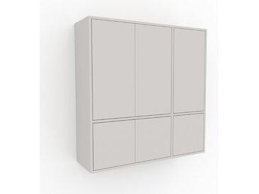 Hängeschrank Weiß - Moderner Wandschrank: Türen in Weiß - 116 x 118 x 35 cm, konfigurierbar
