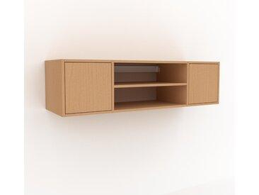 Hängeschrank Buche - Moderner Wandschrank: Türen in Buche - 154 x 41 x 47 cm, konfigurierbar