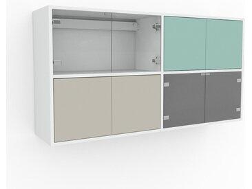 Hängeschrank Taupe - Moderner Wandschrank: Türen in Taupe - 152 x 80 x 35 cm, konfigurierbar