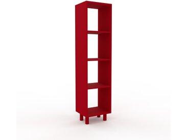 Bücherregal Rot - Modernes Regal für Bücher: Hochwertige Qualität, einzigartiges Design - 41 x 168 x 35 cm, Individuell konfigurierbar