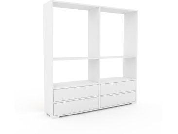 Regalsystem Weiß - Flexibles Regalsystem: Schubladen in Weiß - Hochwertige Materialien - 152 x 158 x 35 cm, Komplett anpassbar
