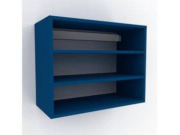 Hängeschrank Blau - Moderner Wandschrank: Hochwertige Qualität, einzigartiges Design - 77 x 61 x 35 cm, konfigurierbar