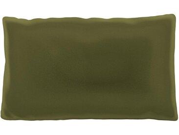 Kissen - Olivgrün, 30x50cm - Samt, individuell konfigurierbar