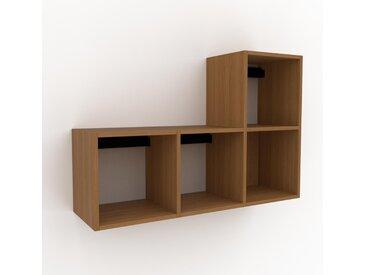 Hängeschrank Eiche, Holz - Moderner Wandschrank: Hochwertige Qualität, einzigartiges Design - 118 x 80 x 35 cm, konfigurierbar