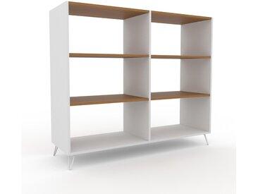 Aktenregal Weiß - Flexibles Büroregal: Hochwertige Qualität, einzigartiges Design - 152 x 130 x 47 cm, konfigurierbar