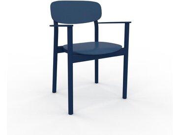 Armlehnstuhl in Marineblau 52 x 82 x 58cm einzigartiges Design, konfigurierbar
