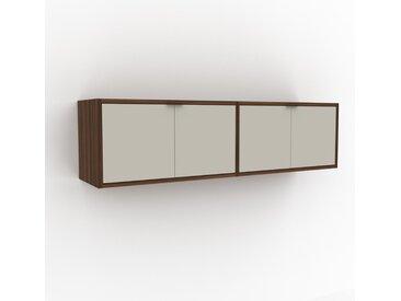 Hängeschrank Taupe - Moderner Wandschrank: Türen in Taupe - 152 x 41 x 35 cm, konfigurierbar