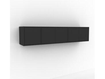 Hängeschrank Graphitgrau - Moderner Wandschrank: Türen in Graphitgrau - 190 x 41 x 35 cm, konfigurierbar