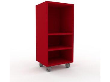Schallplattenregal Rot - Modernes Regal für Schallplatten: Hochwertige Qualität, einzigartiges Design - 41 x 87 x 35 cm, Selbst designen