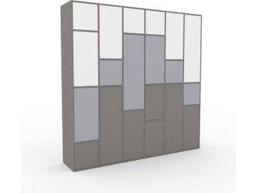 Aktenschrank Grau - Flexibler Büroschrank: Türen in Grau - Hochwertige Materialien - 233 x 234 x 47 cm, Modular