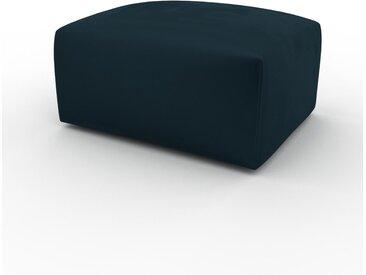 Polsterhocker Samt Petrolblau - Eleganter Polsterhocker: Hochwertige Qualität, einzigartiges Design - 80 x 42 x 64 cm, Individuell konfigurierbar