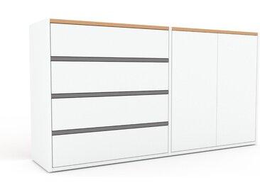 Highboard Weiß - Highboard: Schubladen in Weiß & Türen in Weiß - Hochwertige Materialien - 152 x 80 x 35 cm, Selbst designen