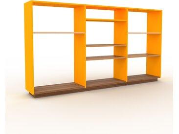 Schallplattenregal Gelb - Modernes Regal für Schallplatten: Hochwertige Qualität, einzigartiges Design - 226 x 124 x 35 cm, Selbst designen