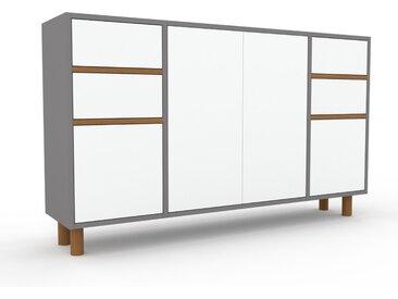Highboard Weiß - Highboard: Schubladen in Weiß & Türen in Weiß - Hochwertige Materialien - 154 x 91 x 35 cm, Selbst designen