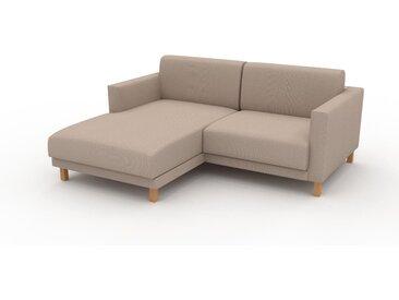 Ecksofa Sandbeige - Flexible Designer-Polsterecke, L-Form: Beste Qualität, einzigartiges Design - 184 x 75 x 162 cm, konfigurierbar