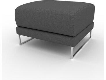 Polsterhocker Anthrazit - Eleganter Polsterhocker: Hochwertige Qualität, einzigartiges Design - 60 x 42 x 60 cm, Individuell konfigurierbar