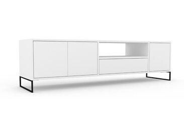 Lowboard Weiß - TV-Board: Schubladen in Weiß & Türen in Weiß - Hochwertige Materialien - 190 x 53 x 47 cm, Komplett anpassbar
