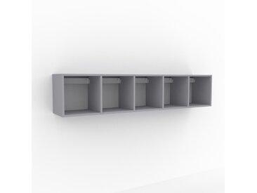 Hängeschrank Lichtgrau - Moderner Wandschrank: Hochwertige Qualität, einzigartiges Design - 195 x 41 x 35 cm, konfigurierbar