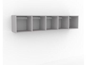 Hängeschrank Hellgrau - Moderner Wandschrank: Hochwertige Qualität, einzigartiges Design - 195 x 41 x 35 cm, konfigurierbar