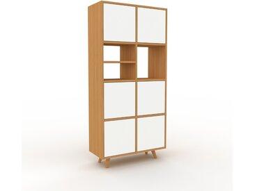 Aktenschrank Eiche - Flexibler Büroschrank: Türen in Weiß - Hochwertige Materialien - 79 x 168 x 35 cm, Modular