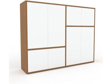 Aktenschrank Weiß - Flexibler Büroschrank: Türen in Weiß - Hochwertige Materialien - 152 x 118 x 35 cm, Modular