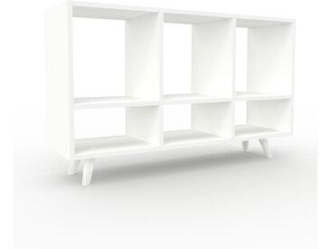 Schallplattenregal Weiß - Modernes Regal für Schallplatten: Hochwertige Qualität, einzigartiges Design - 118 x 72 x 35 cm, Selbst designen