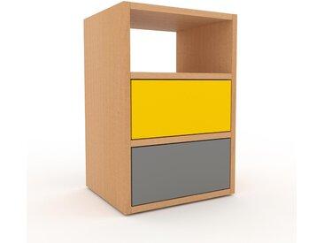 Rollcontainer Buche - Moderner Rollcontainer: Schubladen in Grau - 41 x 61 x 35 cm, konfigurierbar