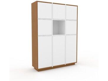 Aktenschrank Eiche - Flexibler Büroschrank: Türen in Weiß - Hochwertige Materialien - 118 x 162 x 35 cm, Modular