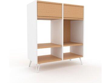 Regalsystem Buche - Flexibles Regalsystem: Schubladen in Buche - Hochwertige Materialien - 79 x 91 x 35 cm, Komplett anpassbar