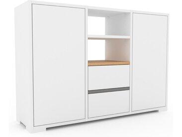 Aktenschrank Weiß - Büroschrank: Schubladen in Weiß & Türen in Weiß - Hochwertige Materialien - 118 x 81 x 35 cm, Modular