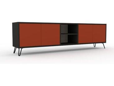 Lowboard Terrakotta - Designer-TV-Board: Türen in Terrakotta - Hochwertige Materialien - 190 x 53 x 35 cm, Komplett anpassbar