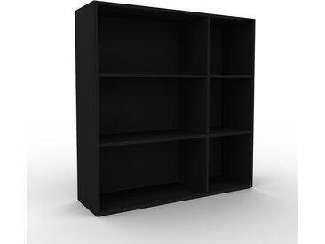 Aktenregal Schwarz - Flexibles Büroregal: Hochwertige Qualität, einzigartiges Design - 116 x 118 x 35 cm, konfigurierbar