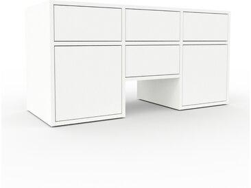 TV-Schrank Weiß - Fernsehschrank: Schubladen in Weiß & Türen in Weiß - 118 x 61 x 47 cm, konfigurierbar