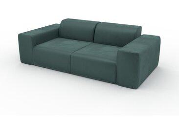 Sofa 2-Sitzer Samt Blaugrün Samt - Elegantes, gemütliches 2-Sitzer Sofa: Hochwertige Qualität, einzigartiges Design - 216 x 72 x 107 cm, konfigurierbar