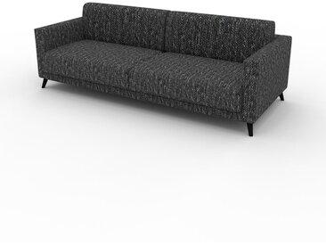 Sofa 2-Sitzer Lavaschwarz Strukturgewebe - Elegantes, gemütliches 2-Sitzer Sofa: Hochwertige Qualität, einzigartiges Design - 225 x 75 x 98 cm, konfigurierbar
