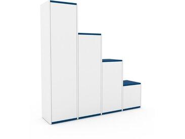 Hochschrank Weiß - Moderner Schrank: Türen in Weiß - Hochwertige Materialien - 156 x 157 x 35 cm, Selbst zusammenstellen