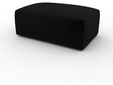 Polsterhocker Samt Schwarz - Eleganter Polsterhocker: Hochwertige Qualität, einzigartiges Design - 100 x 42 x 64 cm, Individuell konfigurierbar