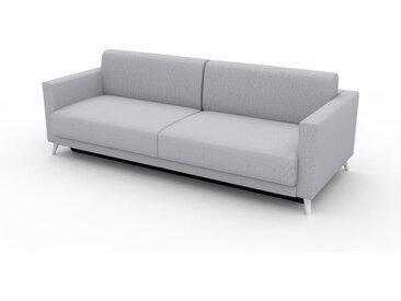 Sofa 3-Sitzer Lichtgrau Feingewebe - Elegantes, gemütliches 3-Sitzer Sofa: Hochwertige Qualität, einzigartiges Design - 225 x 75 x 98 cm, konfigurierbar