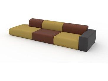 Schlafsofa Senfgelb - Elegantes, gemütliches Bettsofa: Hochwertige Qualität, einzigartiges Design - 370 x 72 x 107 cm, konfigurierbar