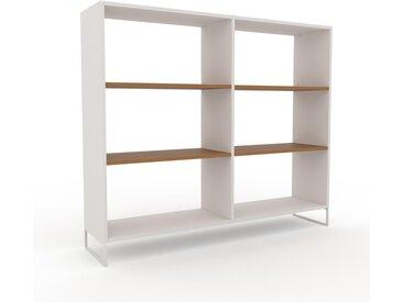 Aktenregal Weiß - Flexibles Büroregal: Hochwertige Qualität, einzigartiges Design - 152 x 130 x 35 cm, konfigurierbar